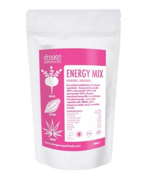 DRAGON SUPERFOODS ENERGY MIX PULBERE RAW 200 GR