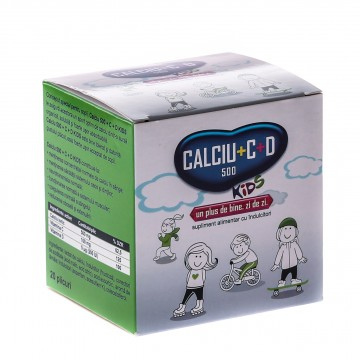 FITERMAN PHARMA CALCIU 500+C+D3 KIDS 20 DZ