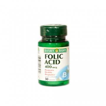 NATURE'S BOUNTY ACID FOLIC 400 MCG 50 TB