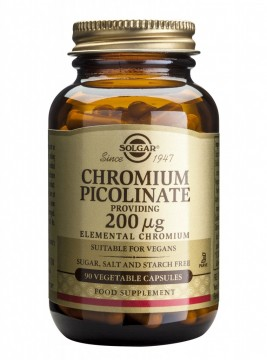 SOLGAR CHROMIUM PICOLINATE 100MG 90 CPS