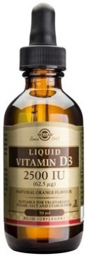 SOLGAR VITAMIN D3 2500 UI LIQUID 59 ML