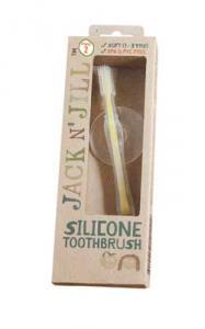Periuta de dinti  Jack n' Jill din silicon cu protectie, pentru 1-2 ani