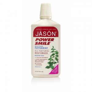 Apa de gura Jason Power Smile pentru albire si respiratie proaspata, 473ml