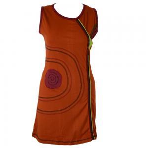 Rochie din bumbac cu maneci scurte - concentric