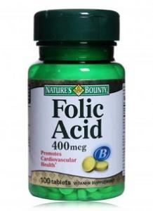 Acid Folic 400mcg 50tb Nature's Bounty-Walmark