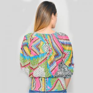 Bluza din bumbac cu maneci 3/4 - RAINBOW