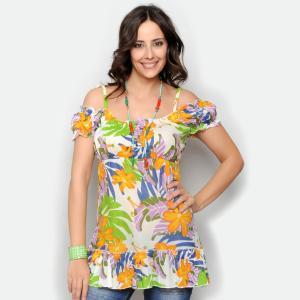 Bluza florala de vara cu umerii goi0