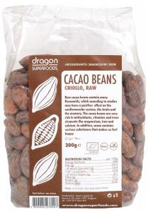 Boabe de cacao intregi Criolo BIO 200 g
