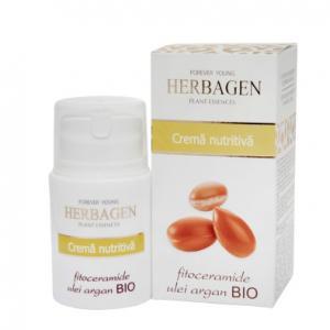 Crema nutritiva cu fitoceramide si ulei argan 50 gr Herbagen