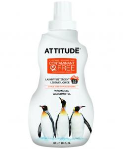 Detergent Bio Attitude pentru rufe, cu coaja de citrice, 1050 ml, 35 spalari