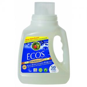 Detergent de rufe Ecos superconcentrat magnolie si lacramioare, 50 spalari