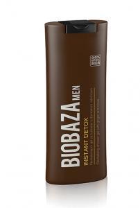 Gel de dus natural pentru barbati  Instant Detox, 220 ml - BIOBAZA