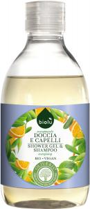 Gel de dus/sampon ecologic Biolu cu provitamina B5, 300 ml