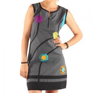 Rochie din bumbac buline - colorate