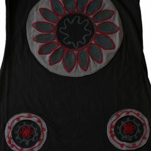 Rochie din bumbac cu patch-uri in forma de cerc