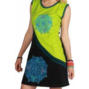 Rochie din bumbac imprimeu mandala - handmade in Nepal