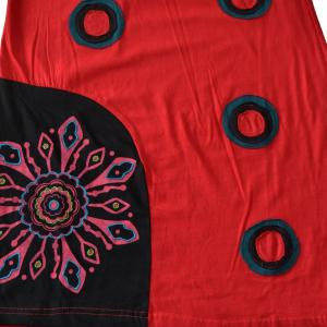 Rochie vesela, din bumbac, handmade in Nepal