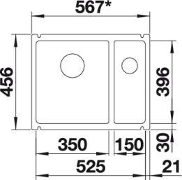 Blanco Subline 350/150-U