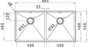Pyramis Tetragon 2B 86.5x44