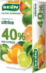 Ceai de fructe cu citrice 40% , 20 pl , 40gr