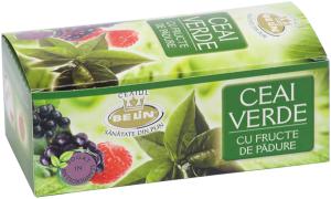 Ceai verde cu aroma de fructe padure 20pl,40gr