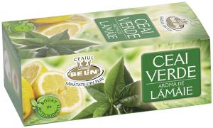 Ceai verde cu aroma de lamaie 20pl,40gr