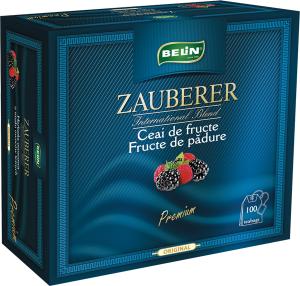 Ceai Zauberer fructe de padure snur si supraplic 100 pl, 200 gr