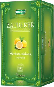 Ceai Zauberer verde cu lamaie 20 pl, 40