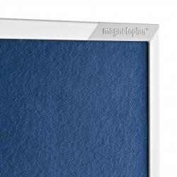 Panou prezentare 1200 x 1500 mm, rama aluminiu, fata dubla Albastru Magnetoplan