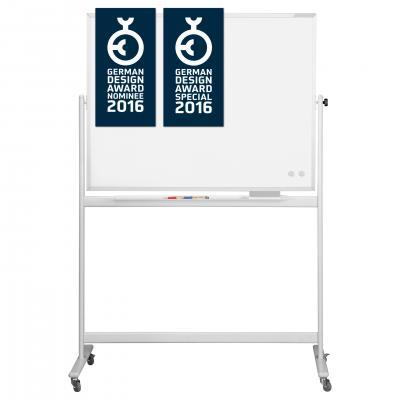 Whiteboard pe stand mobil, SP rotativ 360 gr Magnetoplan (5 variante de marime)