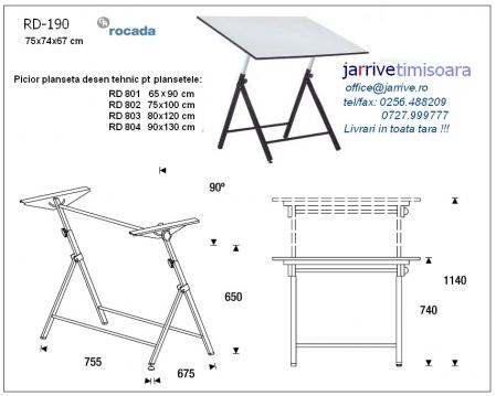 RD190 Picior Planseta Desen Tehnic Rocada