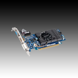 GIGABYTE Video Card GeForce 210 GDDR3  1GB/64bit, 590MHz/1200MHz, PCI-E 2.0 x16, HDMI, DVI, VGA Cooler, Retail
