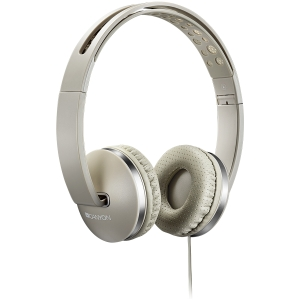 CANYON Stereo headphone with microphone and switch of answer/end phone call, cable 1.2M, Beige0