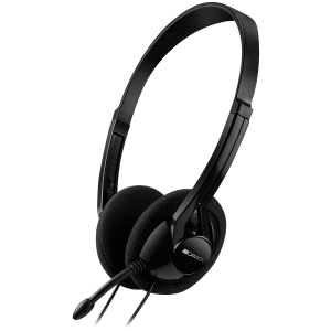 CANYON PC headset with microphone, volume control and adjustable headband, cable 1.8M, Black0