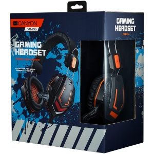 CANYON Gaming headset 3.5mm jack with microphone and volume control, cable 2M, Black1