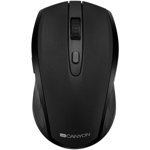 2 in 1 Wireless mouse, Optical 800/1200/1600 DPI, 6 button, 2 mode(BT/ 2.4GHz), black0
