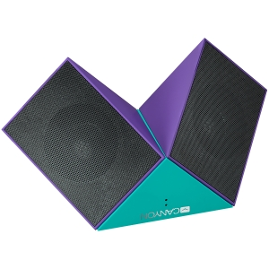 Transformer Bluetooth Speaker, BT V4.1, BEKEN BK3254, 360 degree rotation, Built in microphone, TF card support, 3.5mm AUX, micro-USB port, 800mAh polymer battery, blue-purple3