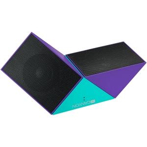 Transformer Bluetooth Speaker, BT V4.1, BEKEN BK3254, 360 degree rotation, Built in microphone, TF card support, 3.5mm AUX, micro-USB port, 800mAh polymer battery, blue-purple2