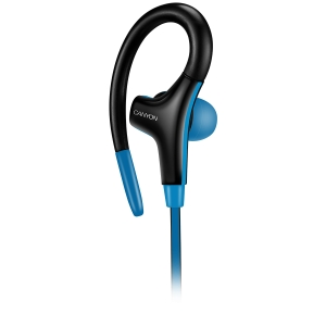 Canyon stereo sport earphones with microphone, 1.2m flat cable, blue3