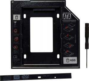 Adaptor SSD pentru CD/DVD Bay, pentru Notebook, Ingust, 9mm, SPR-25DVDI0