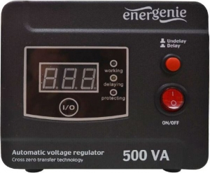 "AVR  500VA, 1 x Schuko socket, sinusoida pura, GEMBIRD ""EG-AVR-D500-01"" (include timbru verde 3 lei)"