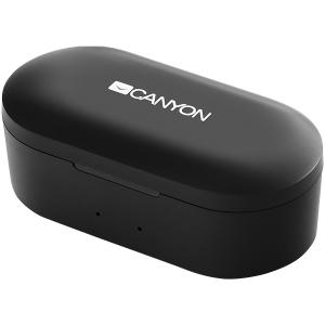Canyon TWS Bluetooth sport headset, with microphone, BT V5.0, RTL8763BFR, battery EarBud 43mAh*2+Charging Case 800mAh, cable length 0.18m, 78*38*32mm, 0.063kg, Black2