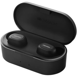 Canyon TWS Bluetooth sport headset, with microphone, BT V5.0, RTL8763BFR, battery EarBud 43mAh*2+Charging Case 800mAh, cable length 0.18m, 78*38*32mm, 0.063kg, Black1
