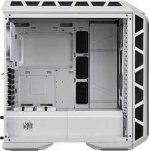 "CARCASA COOLER MASTER Middle-Tower E-ATX, MasterCase. H500P MESH, tempered glass, 2* 200mm RGB fan (incluse), I/O panel, white ""MCM-H500P-WGNN-S00""1"