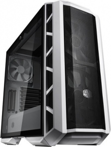 "CARCASA COOLER MASTER Middle-Tower E-ATX, MasterCase. H500P MESH, tempered glass, 2* 200mm RGB fan (incluse), I/O panel, white ""MCM-H500P-WGNN-S00""0"