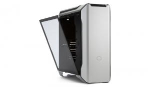 "CARCASA COOLER MASTER Middle-Tower E-ATX, MasterCase SL600M, w/ controller, tempered glass, 2* 200mm fan (incluse), I/O panel, black & silver ""MCM-SL600M-SGNN-S00""1"