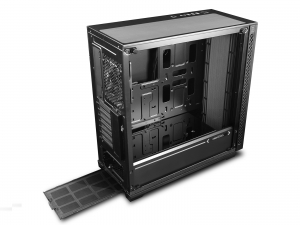 "CARCASA DeepCool Middle-Tower E-ATX, 1x 120mm fans, tempered glass, front audio & 2x USB 3.0, 1x USB 2.0, black ""MATREXX 70""3"