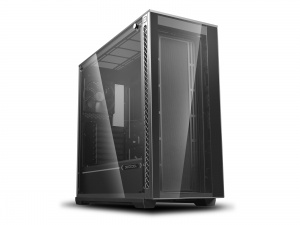 "CARCASA DeepCool Middle-Tower E-ATX, 1x 120mm fans, tempered glass, front audio & 2x USB 3.0, 1x USB 2.0, black ""MATREXX 70""0"