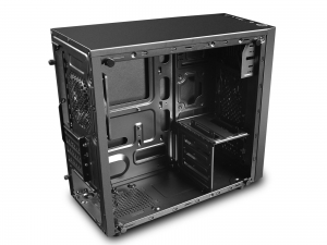 "CARCASA DeepCool Mini-Tower mATX, 1x 120mm fans, tempered glass, front audio & 1x USB 3.0, 1x USB 2.0, black ""MATREXX 30""1"