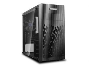 "CARCASA DeepCool Mini-Tower mATX, 1x 120mm fans, tempered glass, front audio & 1x USB 3.0, 1x USB 2.0, black ""MATREXX 30""0"